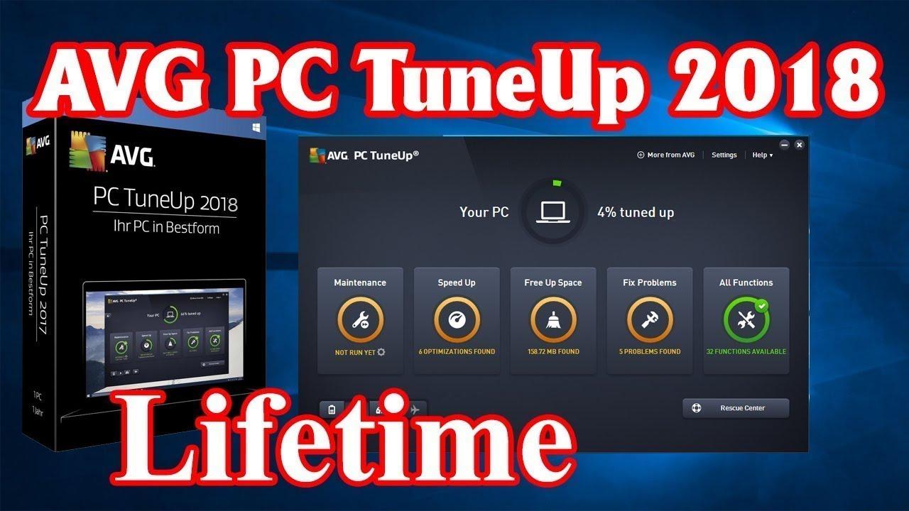 Instalar e Ativar | AVG PC Tune UP 2018 [serial keys]